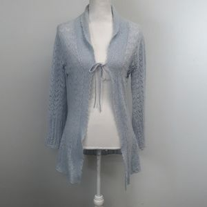 Victoria's Secret Blue Wool Mohair Open Cardigan